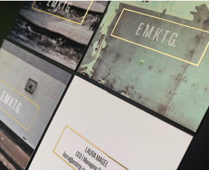 Gold Foiled Business Cards Design